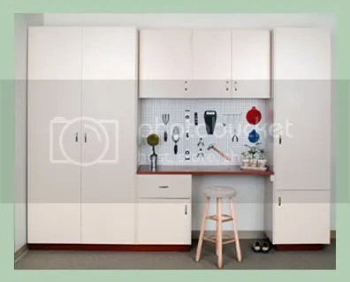 Cabinets made of melamine coated boards like those shown above