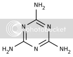Chemical formula for melamine