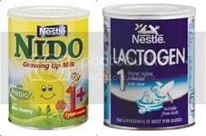 Nido and Lactogen, two Nestle products affected by the recall in South Africa