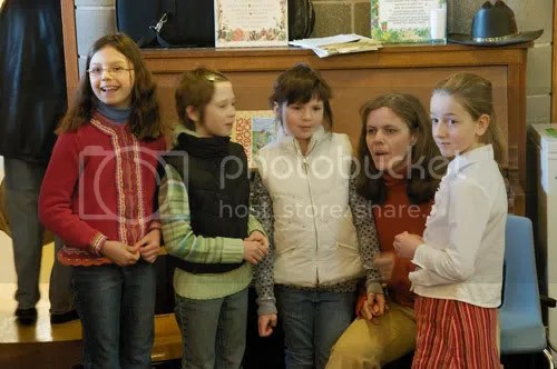 Some of the younger performers with event organizer Shirley Ann Wood
