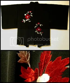 embroidered haori