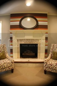 Kristen F. Davis Designs: Fireplace Accent Wall