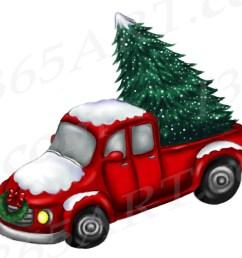 christmas truck clipart [ 2000 x 1600 Pixel ]