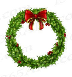 holly wreath clipart [ 1500 x 1300 Pixel ]