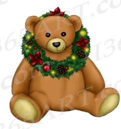 christmas teddy bear clipart [ 1300 x 1095 Pixel ]