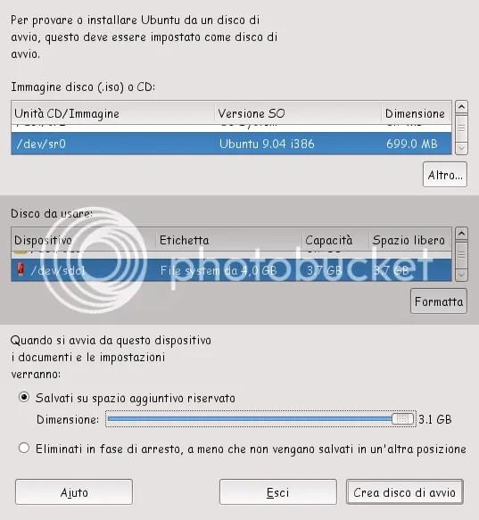 Ubuntu su USB persistente (6/6)