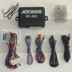 Autopage Alarm Wiring Diagram Fog Light Without Relay Rf 305 Car Security System With Keyless