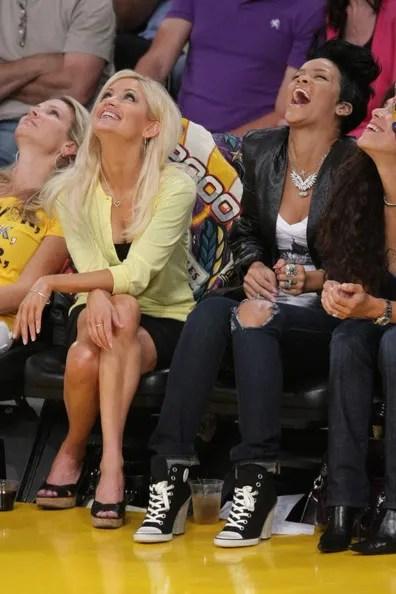 Laughing Rihanna