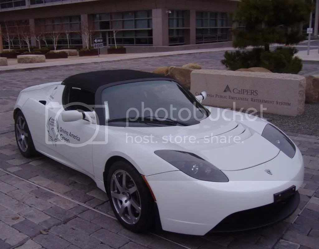 TESLA Motors Roadster electric vehicle sports car EV