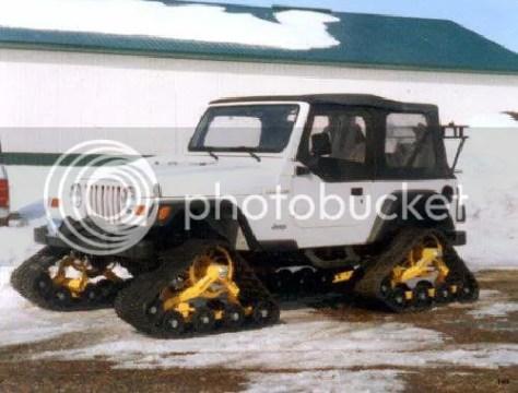 Llantas de oruga en Jeep Wrangler.