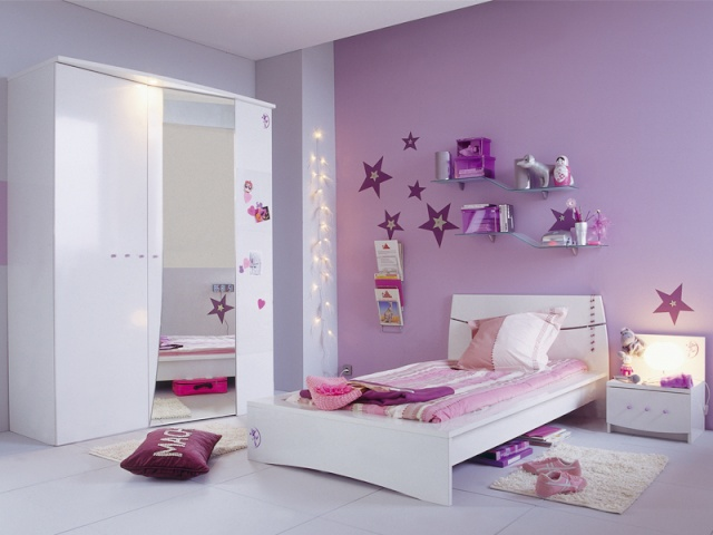 Chambre Gris Violine - Décoration de maison idées de design d ...