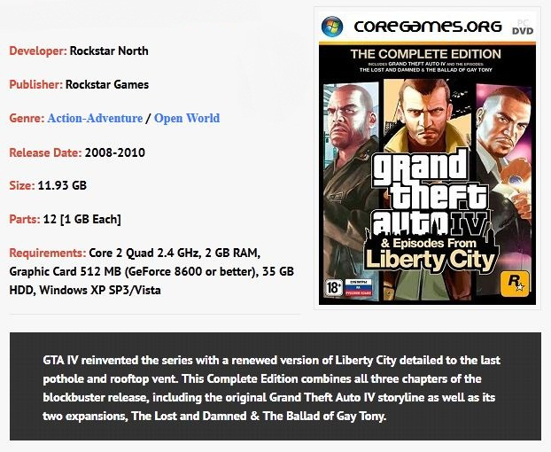 GTA IV – Complete Edition [FREE DOWNLOAD,SINGLE ISO]   GamerZ Rebel