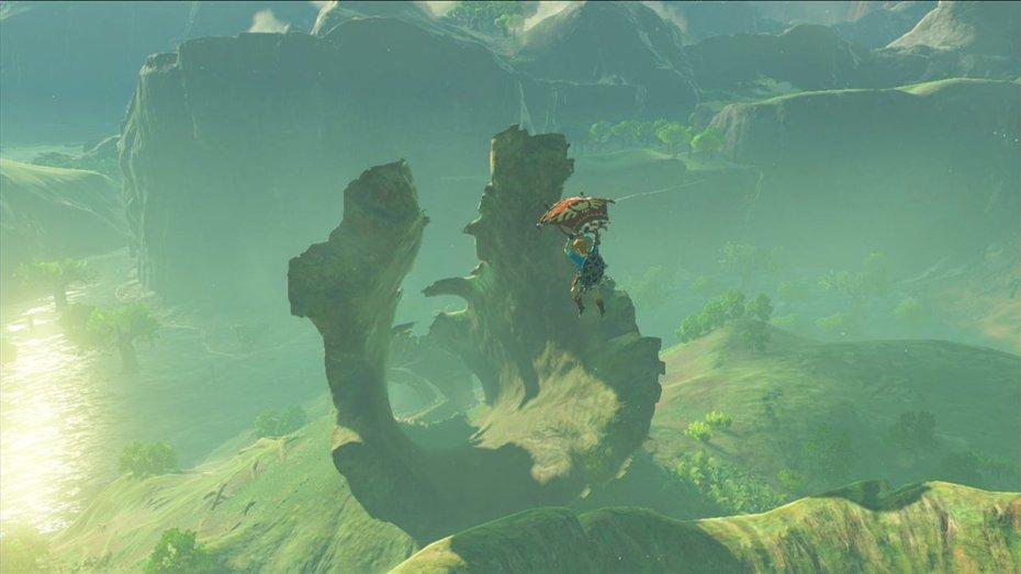breath of the wild, Link vola nel nuovo screenshot di Breath of the Wild