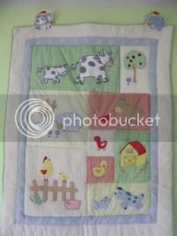 FS: Kidsline Barnyard crib bedding set