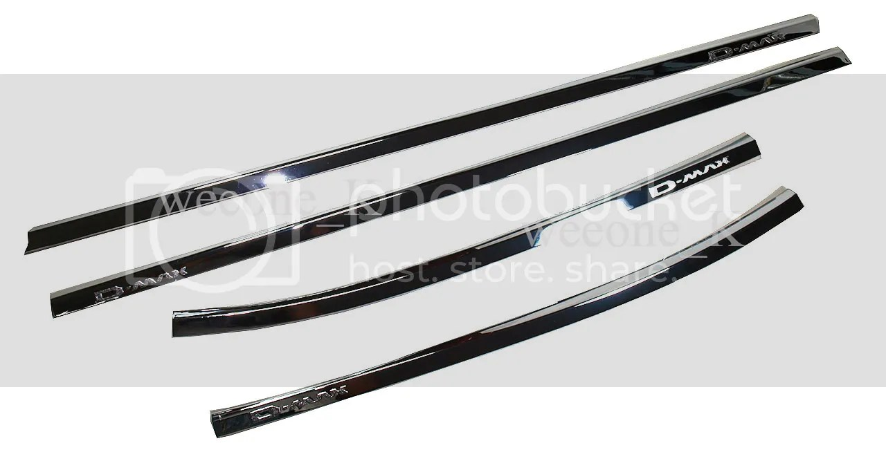 4 DOOR CHOME WINDOW SILL BELT LINE MOLDING FIT FOR ISUZU D