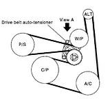 Nissan x trail fan belt diagram