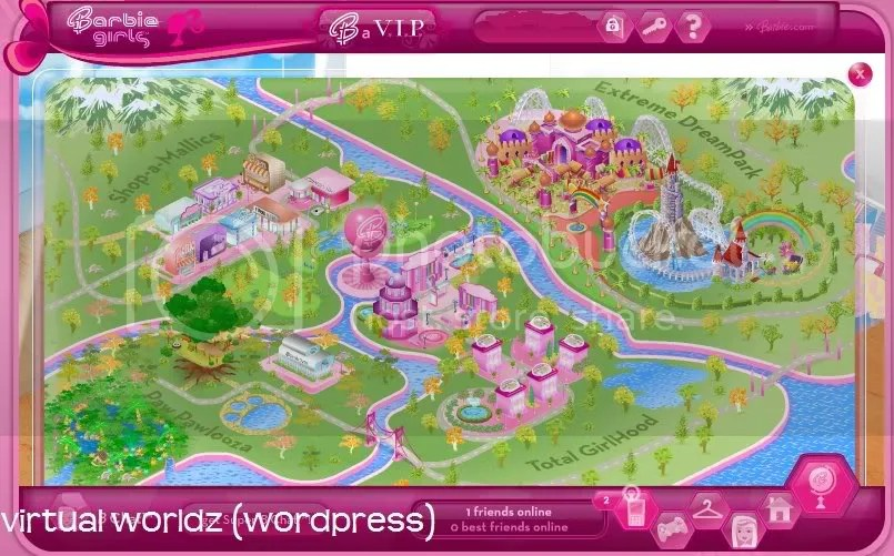 Map of Barbie Girls