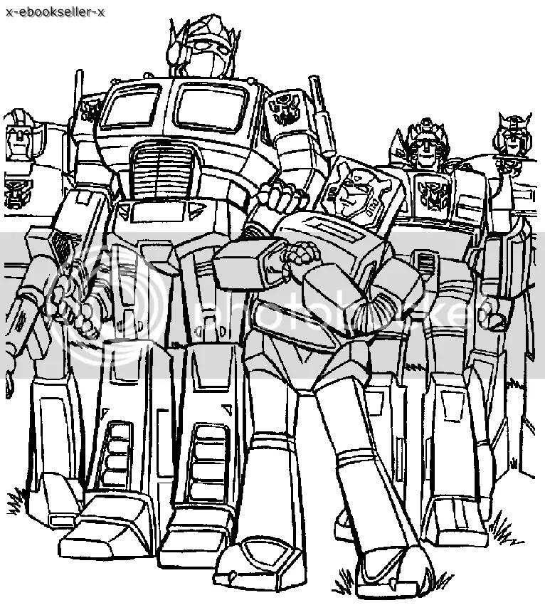 Immagini da Colorare: Disegni da Colorare Transformers