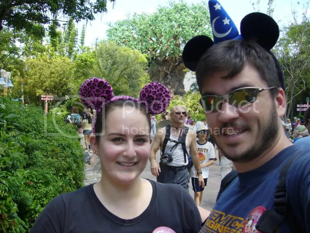 Us with the Tree of Life in the background. Also, my new set of ears! :)