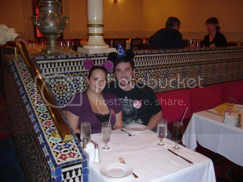 Both of us in Restaurant Marrakesh