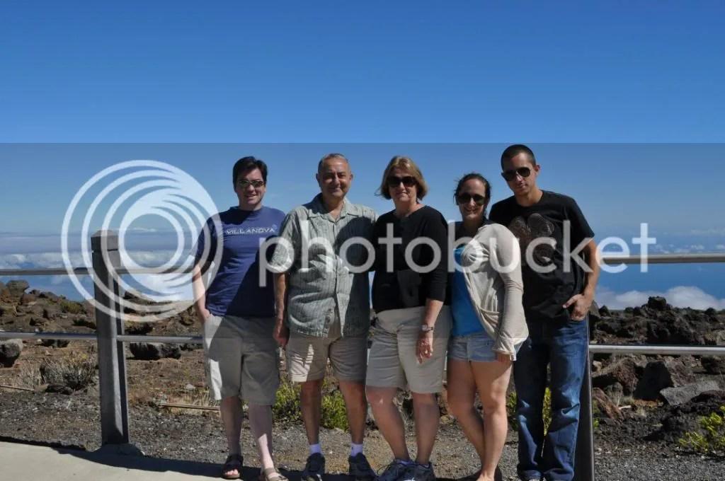 Family at the peak of Haleakala