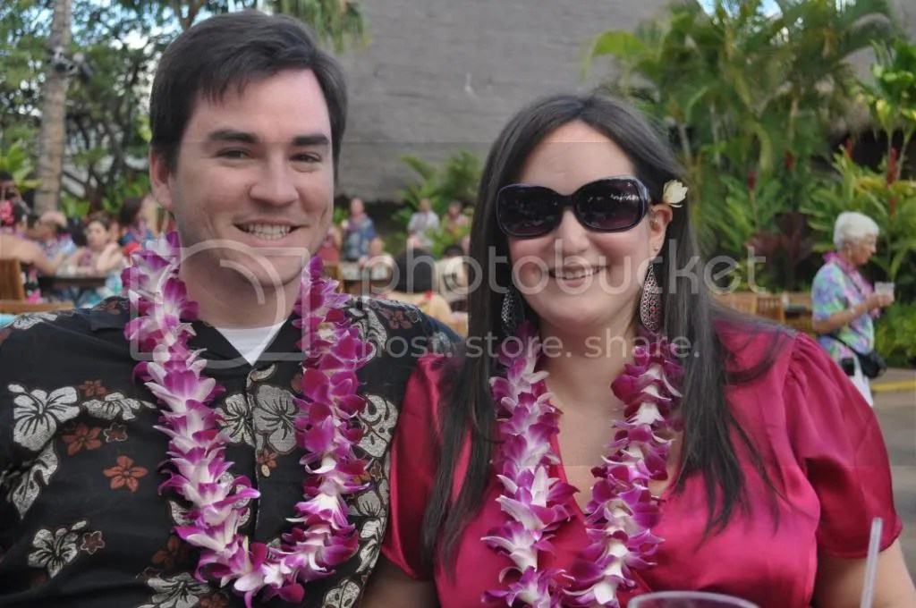 Us at the Old Lahaina Luau