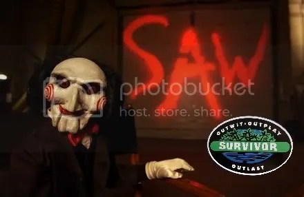 Saw 5 Jigsaw loves Survivor!