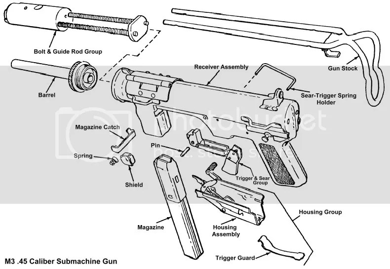 WTS Want to Sell complete M3 Grease Gun Bolt Assembly