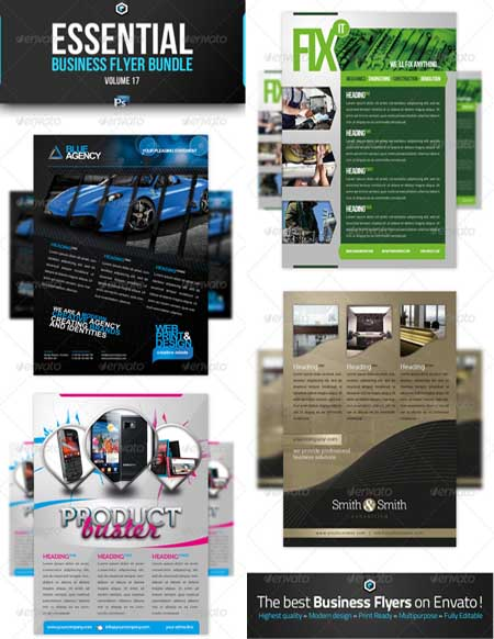 Graphicriver - RW Essential Business Flyer Bundle Vol 17 Photoshop Template
