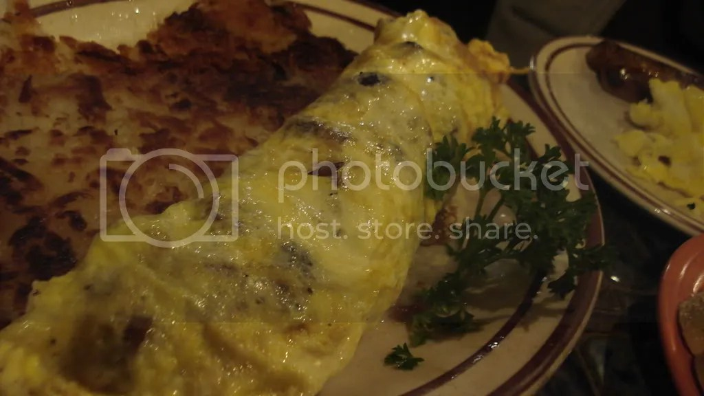 Ashleys sausage and mushroom omelet.