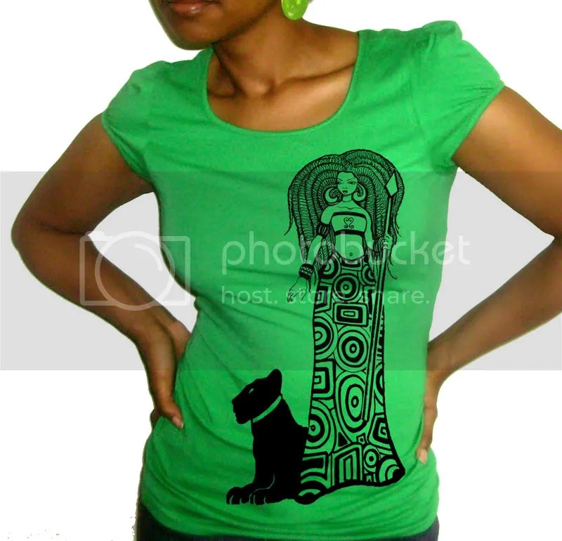 Lion Queen Top in Green