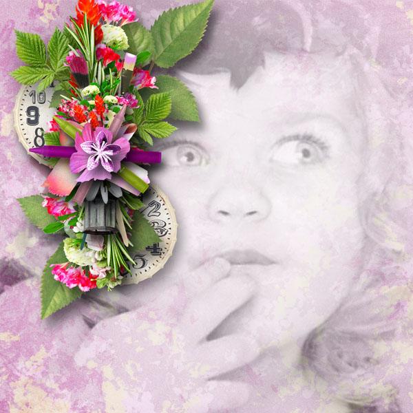 can you paint me some flowers kit by simplette scrap and design page de maman de léna