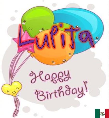 Feliz Cumpleaos Lupita