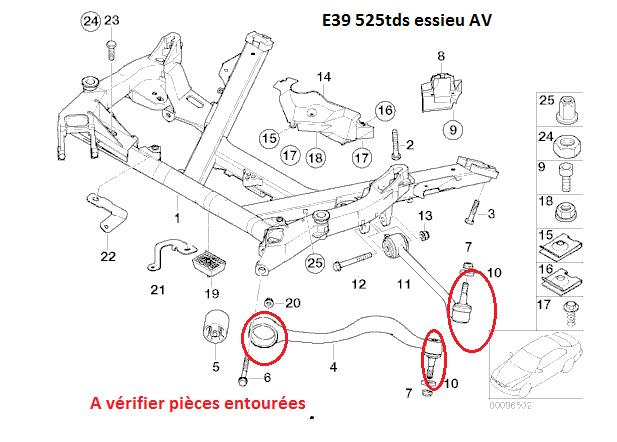 [ BMW E39 525 Tds an 1996 ] problèmes claquement avant gauche