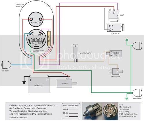 small resolution of farmall wiring schematic with new 3 position switch