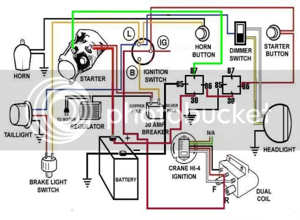 Kick Start Shovelhead Wiring Diagram Alternator W