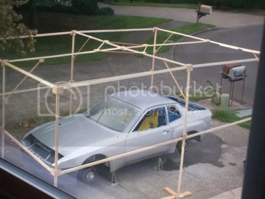 Diy Outdoor Car Paint Booth Home Painting