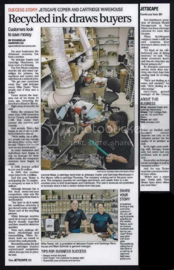 JetScape Featured in the Fort Myers News Press