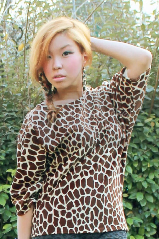 Giraffe Print Top