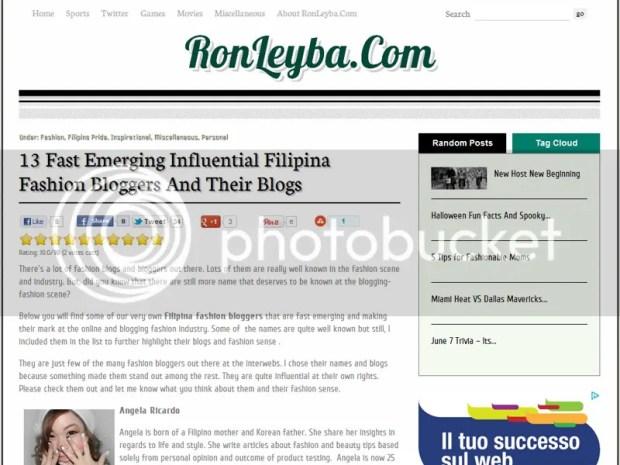 Filipina fashion blogger