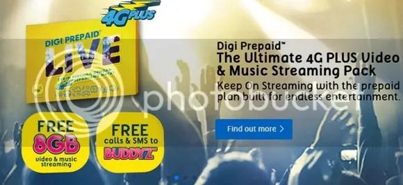 Digi Prepaid LiVE Dilancarkan, Percuma 8GB Untuk Layan Video