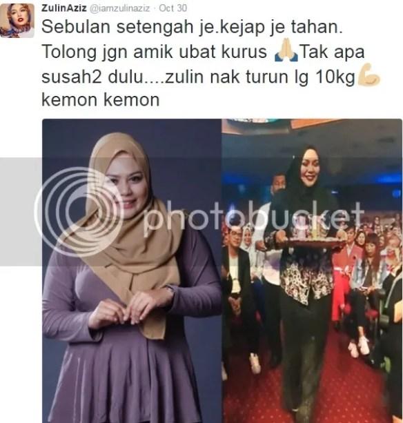 Berat Badan Zulin Aziz Turun 10 Kilogram Tanpa Pengambilan ...