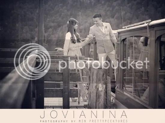 gambar kahwin jovian nina
