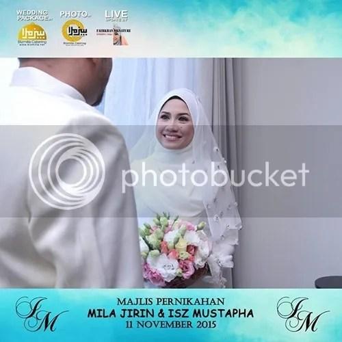 gambar kahwin mila jirin