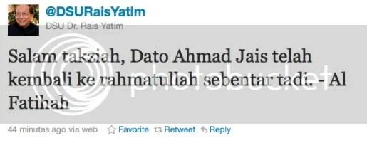 ahmad jais meninggal dunia