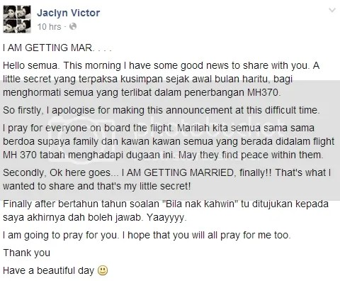 jaclyn victor kahwin