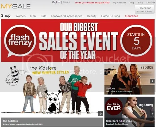 mysale flash frenzy