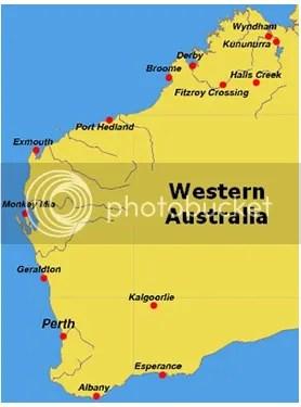 map western australia