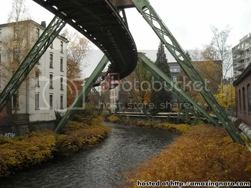 hanging train in germany