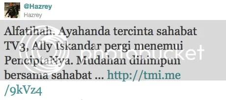 ayah ally iskandar meninggal dunia